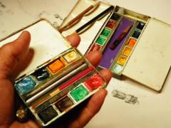 携帯用の水彩絵の具