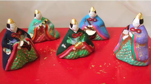 寛永雛の五人囃子が完成しました。