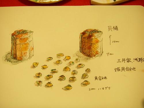 三井記念館で見た三井家の貝合わせ