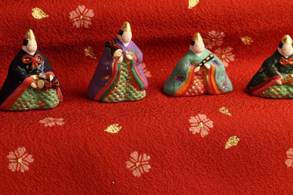 寛永雛の五人囃子の拡大写真です。