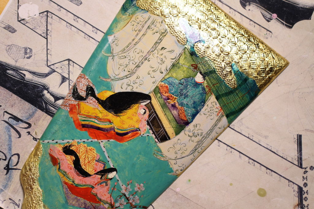 源氏物語絵巻羽子板の桐壺です。