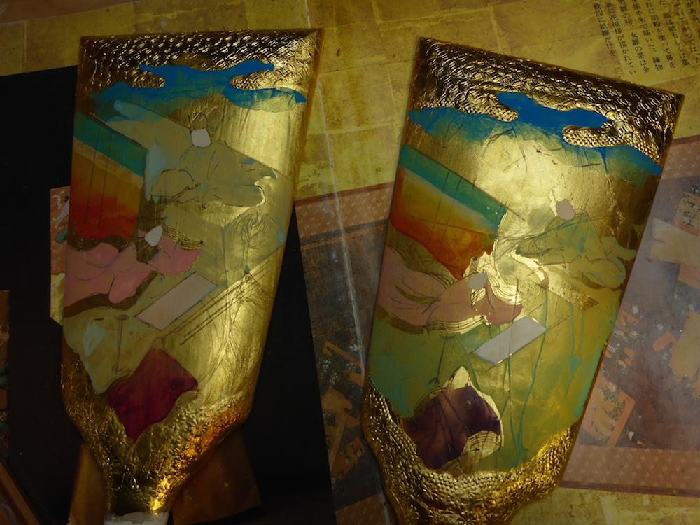 みかわ工房の手描き彩色の羽子板