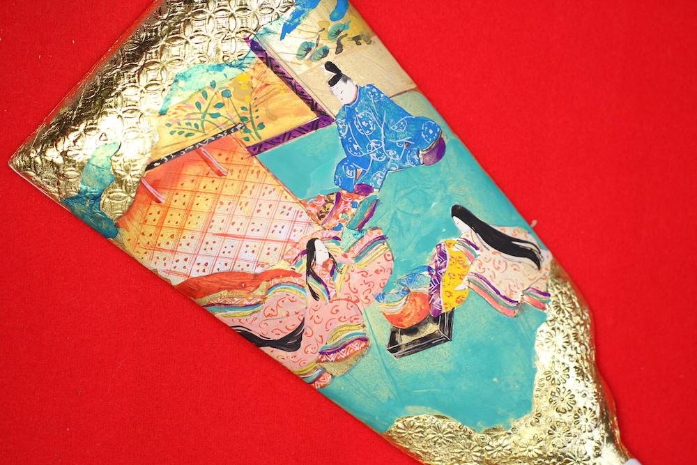 みかわ工房のひめ羽子板(大きさ10×26cm)