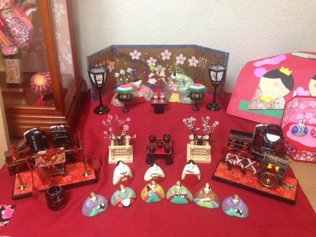自分で道具を揃えられたお客様の雛祭りの写真。