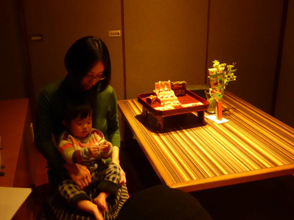 娘と孫のひな祭り。