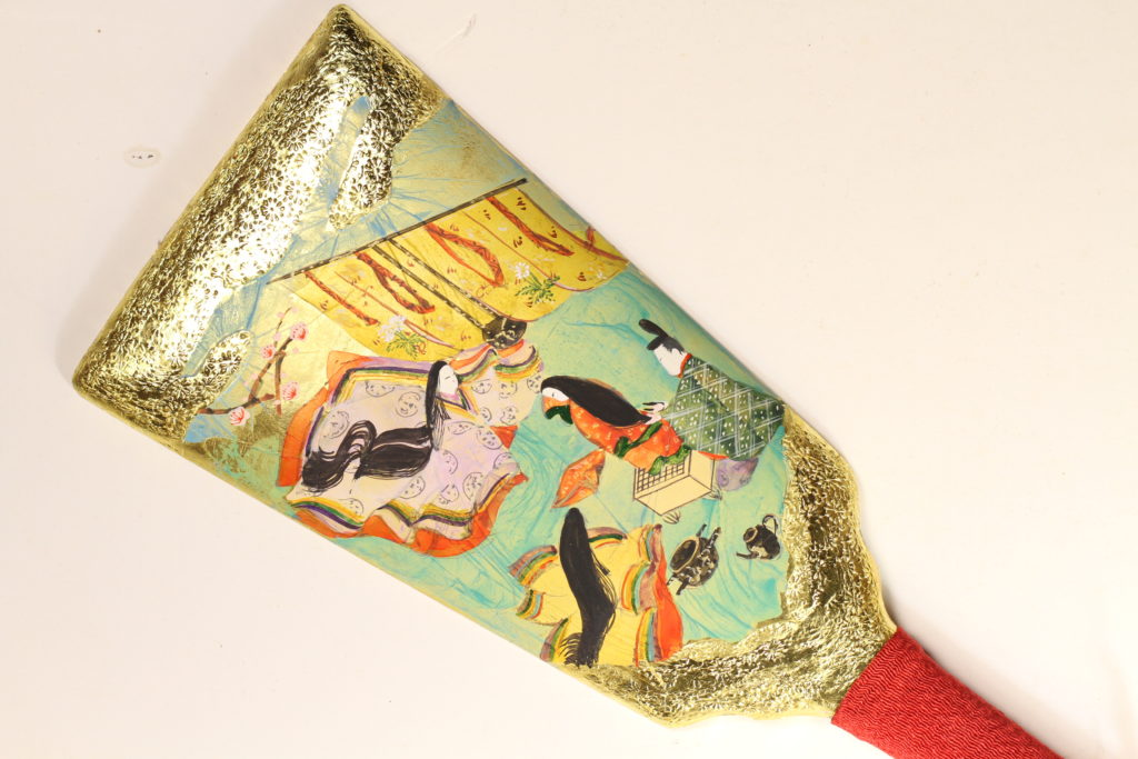 源氏物語絵巻羽子板「葵」の場面
