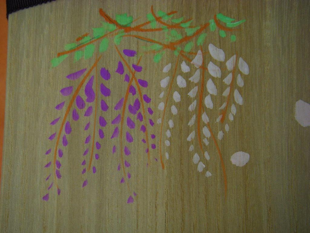 「紫式部日記」の表面に書いた藤の花